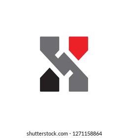 NX logo letter design