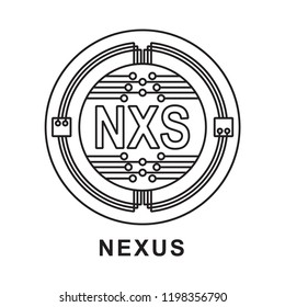 nxs coin  Cryptocurrency  icon outline