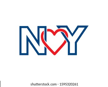NY Letter logo or symbol template design