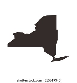 NY map. new york outline.
