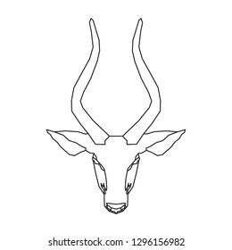 nyala line icon, animal logo, isolated vector on white background