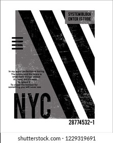 Nyc, t shirt graphic design, vector artistic illustration graphic style, vector, poster, slogan.