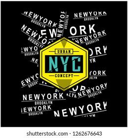 NYC/newyork typography design t shirt,vector illustration
