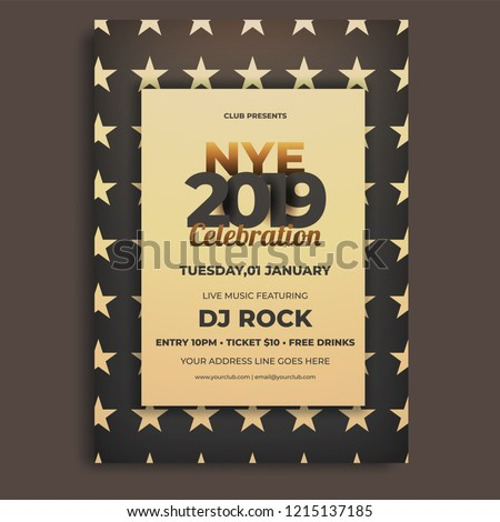 nye new year eve invitation card stock vector royalty free