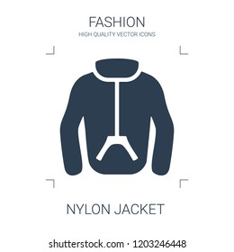 nylon jacket icon. high quality filled nylon jacket icon on white background. from fashion collection flat trendy vector nylon jacket symbol. use for web and mobile