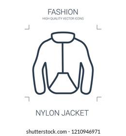 nylon jacket icon. high quality line nylon jacket icon on white background. from fashion collection flat trendy vector nylon jacket symbol. use for web and mobile