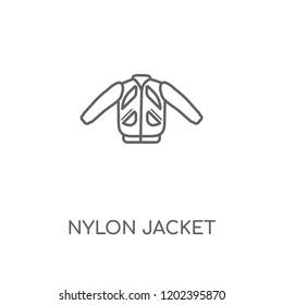 Nylon Jacket linear icon. Nylon Jacket concept stroke symbol design. Thin graphic elements vector illustration, outline pattern on a white background, eps 10.