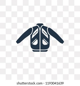 Nylon Jacket vector icon isolated on transparent background, Nylon Jacket transparency concept can be used web and mobile