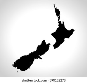 nz country map, vector, new zealand