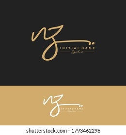 NZ Initial letter handwriting and signature logo.
