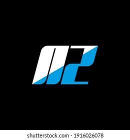 NZ letter logo design on black background. NZ creative initials letter logo concept. NZ icon design. NZ white and blue letter icon design on black background. N Z