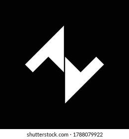 NZ letter logo | Simple letter design | NZ vector logo design | NZ logo