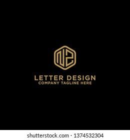 NZ letters Initial icon / Monogram.- Vector inspiration logo design - Vector