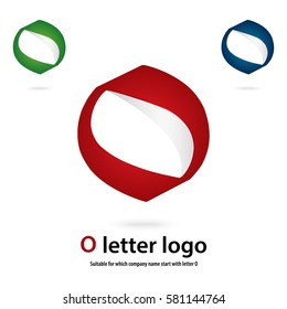 o 3d letter logo vector fully editable and re sizable suitable for which  letter is beginning with letter o
