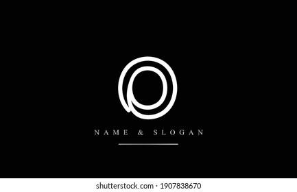 O abstract vector logo monogram template