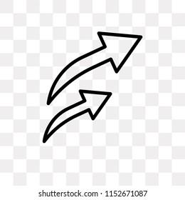 o Arrow vector icon isolated on transparent background, o Arrow logo concept