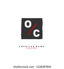 O C OC Initial logo template vector