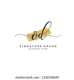 O D OD Initial logo template vector