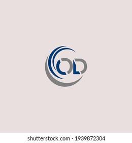 O D Unique abstract geometric vector logo design