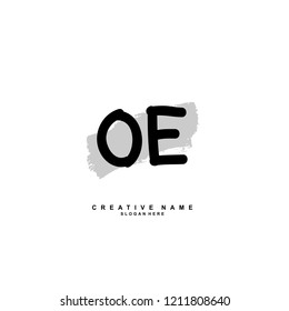 O E OE Initial abstract logo concept vector