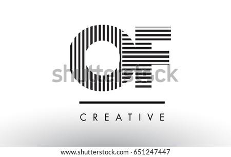 O F Black White Letter Logo Stock Vector Royalty Free 651247447