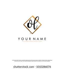 O L Initial abstract logo template vector