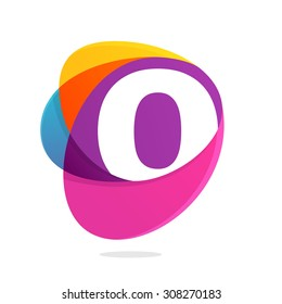 O letter with ellipses intersection logo. Abstract trendy multicolored vector design template elements for your application or corporate identity.