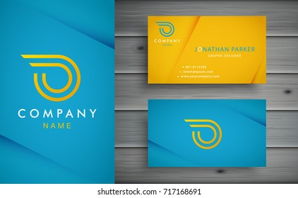 O letter logo design with corporate business card template.