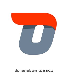 O letter logo design template. Fast speed vector unusual letter. Vector design template elements for your application or company.