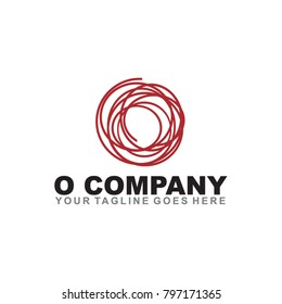 O letter logo design vector template
