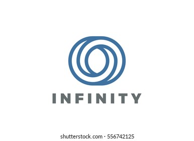 O letter Logo infinite shape design vector template Linear style