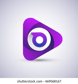 O letter logo in the triangle shape, font icon, Vector design template elements for your application or company identity.