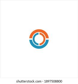 O letter logo vector design on white color background. o icon