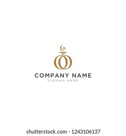 O letter with perfume abstract Logo Template Design Vector, Emblem, Design Concept, Creative Symbol, Icon