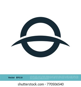 O Letter and Swoosh Icon Vector Logo Template