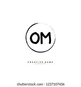 O M OM Initial logo template vector. Letter logo concept