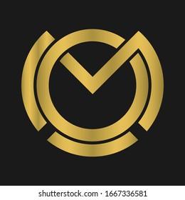 O , M , OM , MO letter logo design and monogram logo