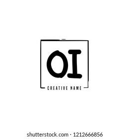 O I OI Initial abstract logo concept vector