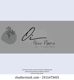O I OI Initial letter handwriting and signature logo. Beauty vector initial logo .Fashion, boutique, floral and botanical