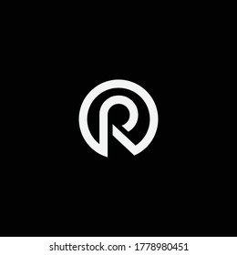 O R or RO logo and icon designs with different colors and backgrounds