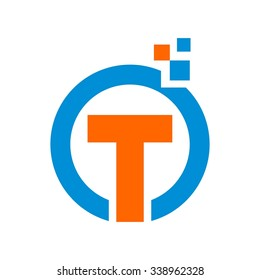 O T Finance Business, O T Initial Logo Template