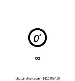 o2 icon vector. o2 sign on white background. o2 icon for web and app