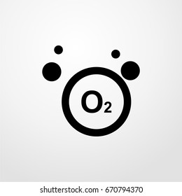 o2 icon. vector sign symbol on white background