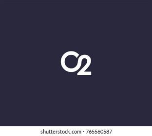 o2 logo icon vector