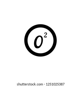 o2 vector icon. o2 sign on white background. o2 icon for web and app