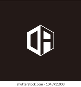 OA or DA Logo Initial Monogram Negative Space Designs Templete