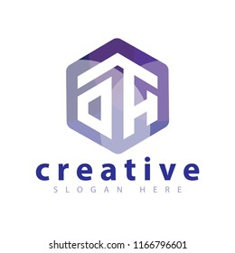 OA Initial letter hexagonal logo vector