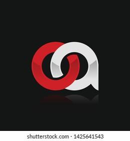 OA initial logo template vector illustration