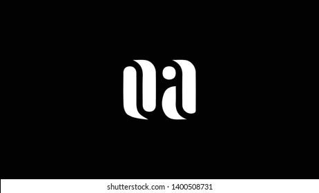 OA logo design template vector illustration minimal design