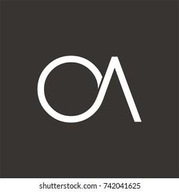 OA logo initial letter design template vector